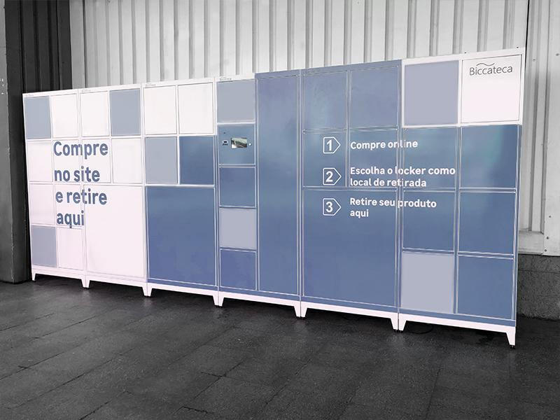 Shoppings investem em armários inteligentes e drive-thru.