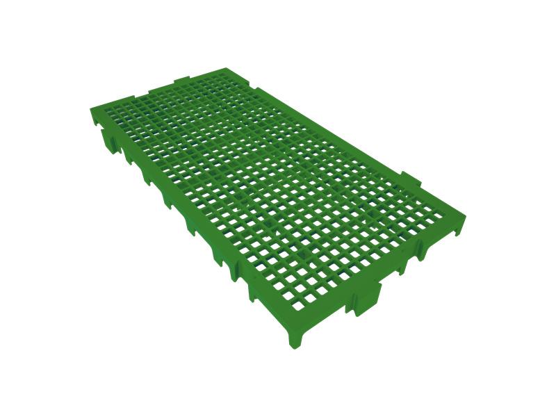 Piso Plástico Verde 25x50cm