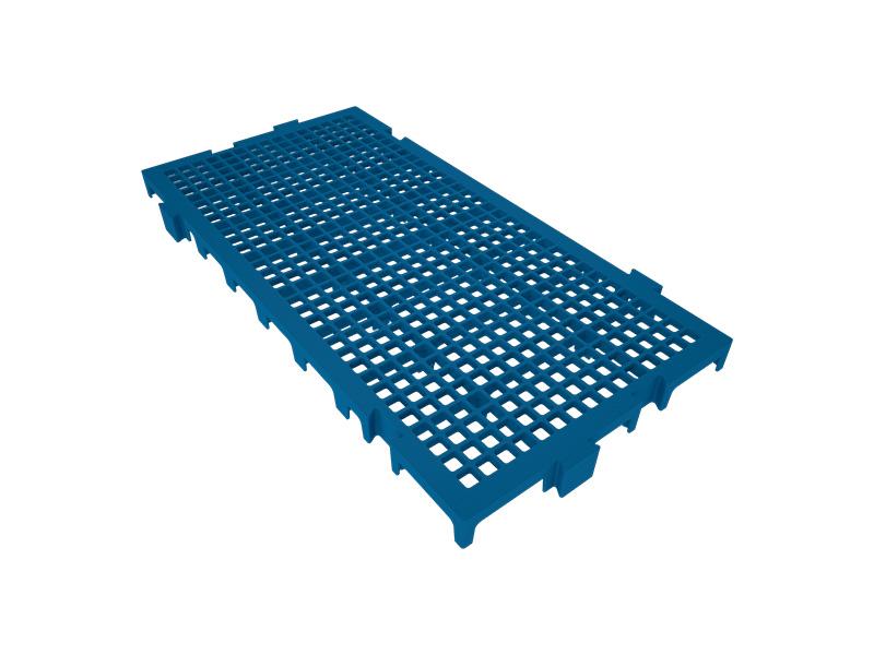 Piso Plástico Azul 25x50cm