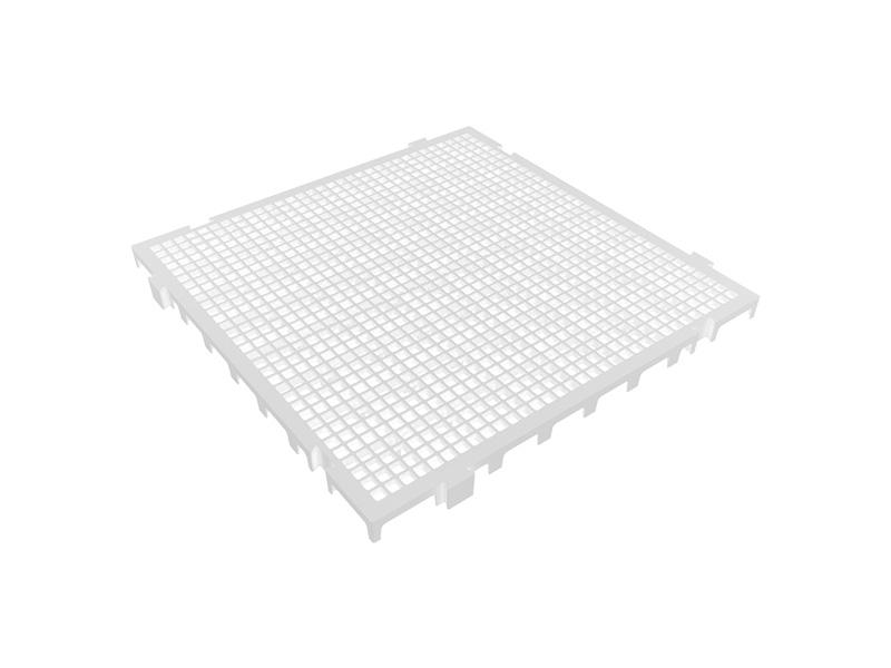 Piso Plástico Branco 50x50cm