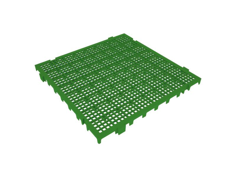 Piso Plástico Verde 50x50cm