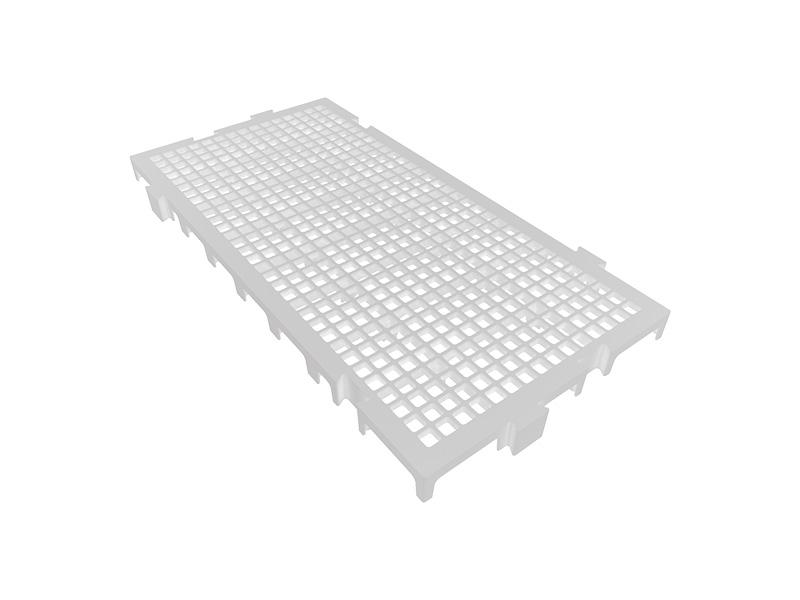 Piso Plástico Branco 25x50cm