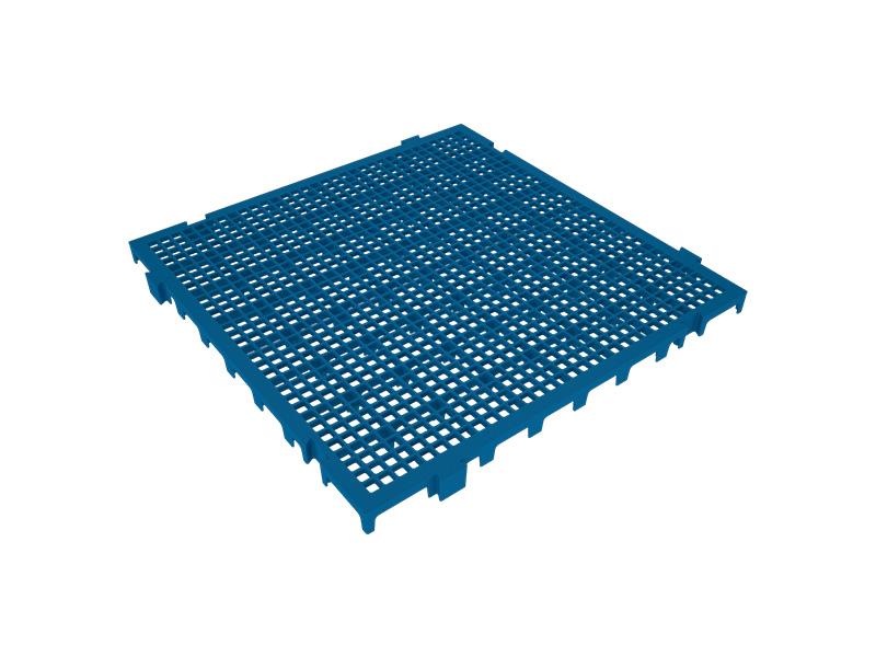 Piso Plástico Azul 50x50cm